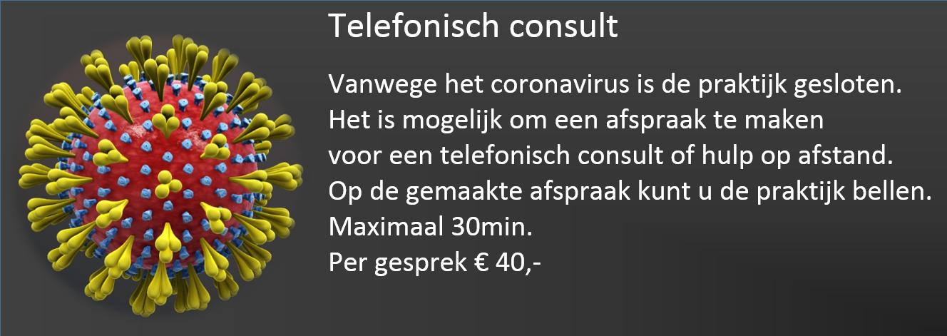 Corona telefonisch consult banner